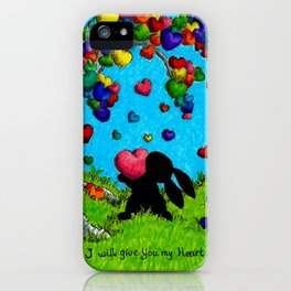 I'll give you my heart iPhone Case