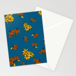 Orange yellow lily Stationery Cards