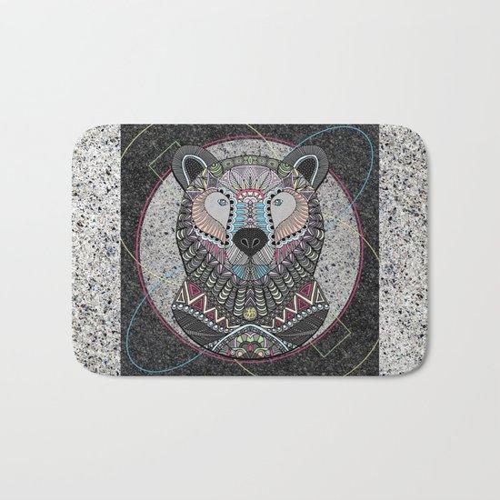 Neon Tribal Bear Bath Mat