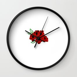Mowing the Lawn Just a GIrl Who Loves Riding Mowers Wall Clock