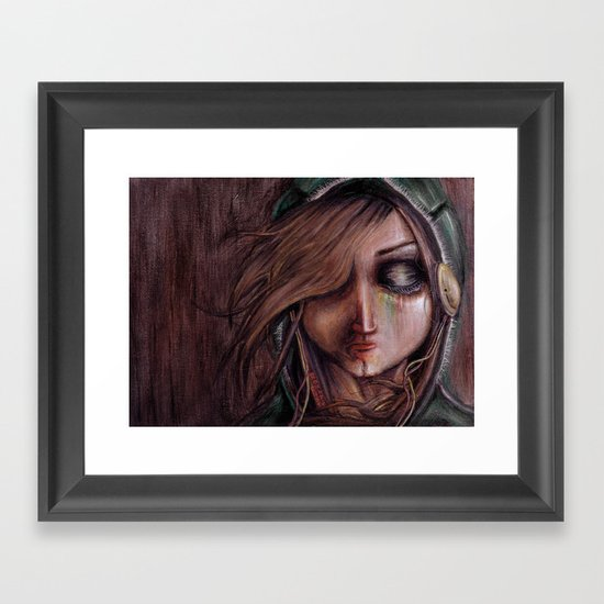 Disturbance of the pain-sensitive structures in my head Framed Art Print