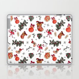 Awesome holiday Christmas repeating Posters and Art Prints Laptop & iPad Skin