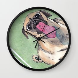 Window Lickers-Puglet Wall Clock