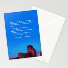 Fatal exception Stationery Cards