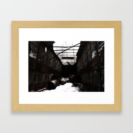 This Is Where She Died. Framed Art Print