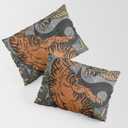 Jiu Jitsu Tiger and Dragon Art, Yin Yang, Martial Arts, Bjj Mma, Japanese Pillow Sham
