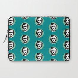 Edgar Allan Poe-ka Dots Teal Laptop Sleeve