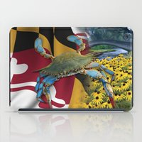 maryland iPad Cases featuring Maryland Blue by O'Postrophy