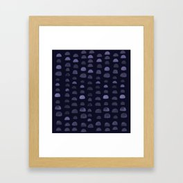 Hills - Navy Framed Art Print
