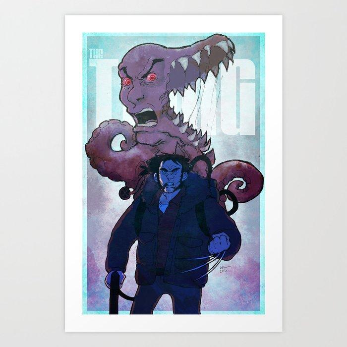 Xmen vs The Thing Art Print