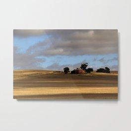 Rural Landscape and Farmhouse in Australia Metal Print