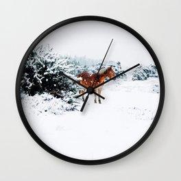 Winter horse Wall Clock