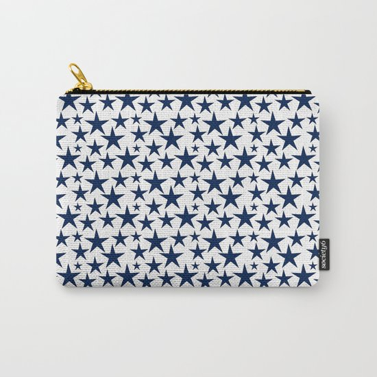 Blue stars on white background illustration Carry-All Pouch