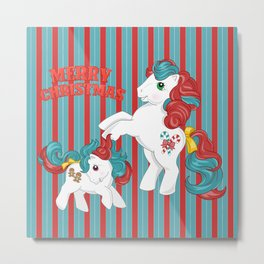 g1 my little pony merry christmas Metal Print