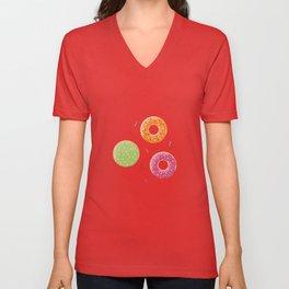 Donut pattern 004 Unisex V-Neck