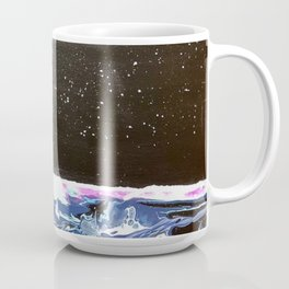 Moon over a rough sea. Coffee Mug