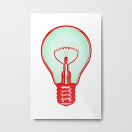 Bulbuous CHERRY MINT Metal Print