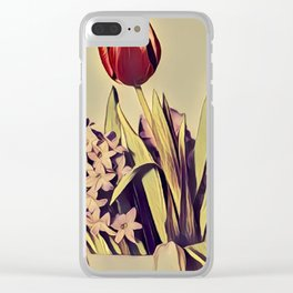 assorted flowers in shallow focus lens Clear iPhone Case