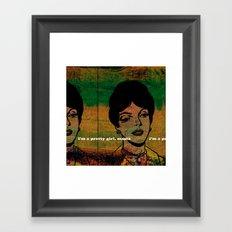 Will you kiss me? Framed Art Print