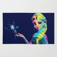 frozen elsa Area & Throw Rugs featuring Elsa by lauramaahs