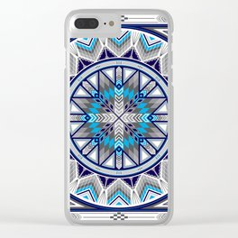 Sacred Places Blue Clear iPhone Case
