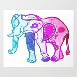 Colourphant Art Print