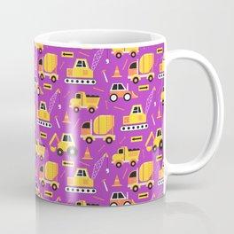 Constructon Trucks in Purple Coffee Mug