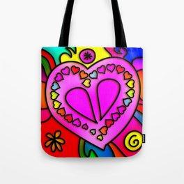 Colorful Modern Love Tote Bag
