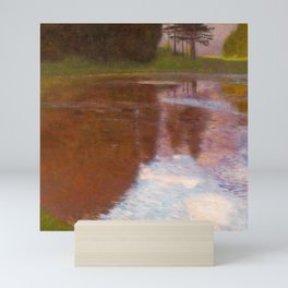 "Gustav Klimt ""Tranquil Pond (Egelsee near Golling, Salzburg)"" Mini Art Print"