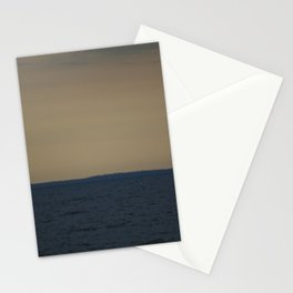 ORANGEY BLUE LAKE HURON Stationery Cards