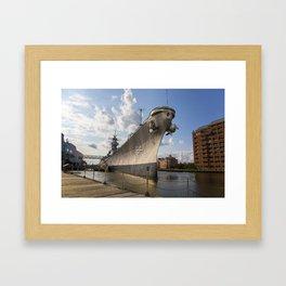 USS Wisconsin Framed Art Print