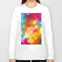 xmas Long Sleeve T-shirts featuring Colorful Xmas by Tom Lee