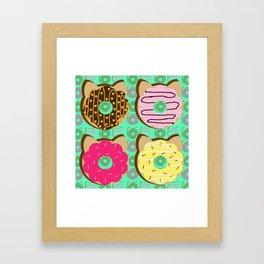 Dough Cats Framed Art Print