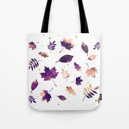 SUNSET LEAF PATTERN Tote Bag