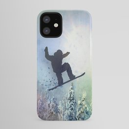 The Snowboarder: Air iPhone Case
