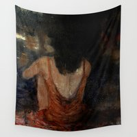 imagerybydianna Wall Tapestries featuring pondering universally acknowledged truths by Imagery by dianna