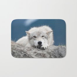 Sleepy Wolf Bath Mat