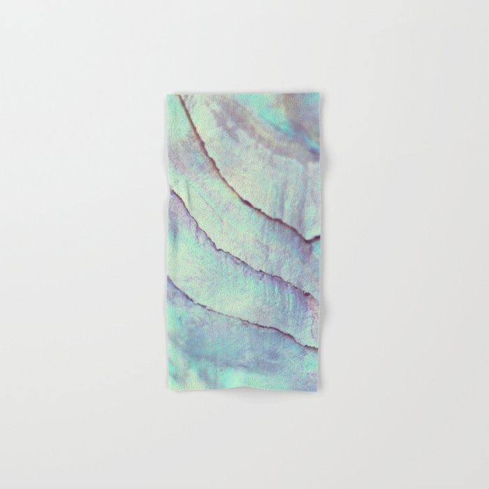 IRIDISCENT SEASHELL MINT by Monika Strigel Hand & Bath Towel