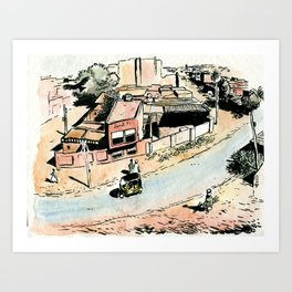 La rue - The street Art Print