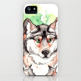 Mexican Gray Wolf Bust iPhone Case