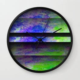 Green Color Blinds Wall Clock