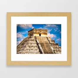 Ancient Mayan Ruins of Chichen Itza Framed Art Print