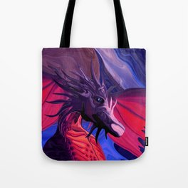 Jewel Toned Dragon of the Amethyst and Ruby Caverns Tote Bag