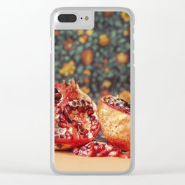 Pomegranate Clear iPhone Case