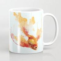 goldfish Mugs featuring GoldFish by Carlos Asensi