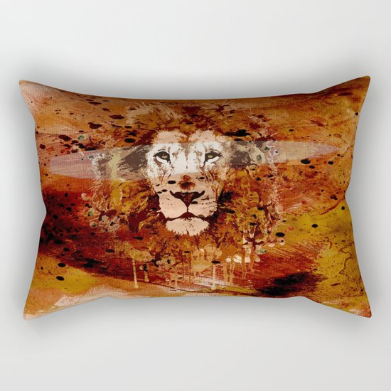 WATERCOLOR KING Rectangular Pillow