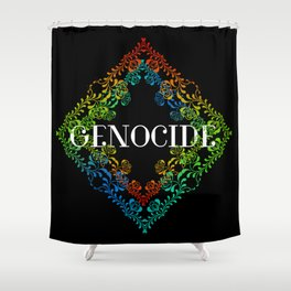 Genocide Dark Shower Curtain