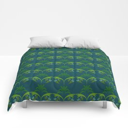 Green Wheat Floral Comforters