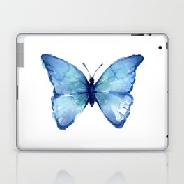 Blue Butterfly Watercolor Laptop & iPad Skin