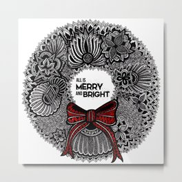 Holiday Wreath Metal Print